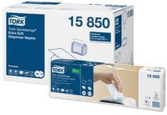 """Tork 15850 Ubrousky """"Premium Interfolded"""", systém N4, skládané 1/2, 2 vrstvé, 21,6x16,5 cm"""