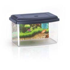 COBBYS PET Akvárium műanyag 1, tetővel és háttérrel 22x16x14cm 3l