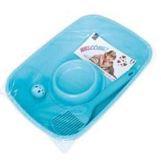 COBBYS PET Welcome Kit 37x27x8,5cm kezdő szett kiscicáknak (WC, lapát, tál, labda)
