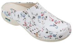 Nursing Care BERLIM pracovní kožená pratelná obuv s certifikací dámská bez pásku květy WG4AF1 Nursing Care Velikost: 35