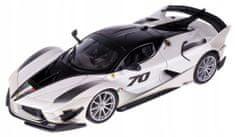 BBurago model Ferrari TOP FXX-K EVO No.70, 1:18, bijela/crna