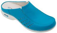Nursing Care BERLIM pracovní kožená pratelná obuv s certifikací dámská bez pásku modrá WG4A19 Nursing Care Velikost: 35