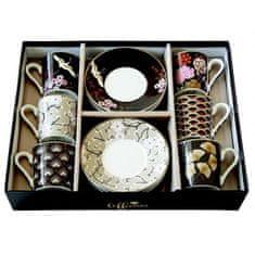 Easy Life porcelánové hrnky na espresso Oriental, dárková sada 6 ks