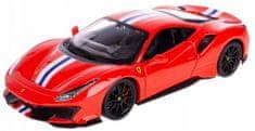 BBurago model Ferrari TOP 488 Pista, 1:24, crvena