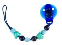 Difrax Klip na cumlík modré koráliky