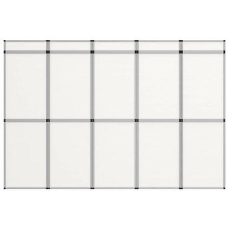shumee vidaxl fehér 15 paneles összecsukható kiállítófal 302 x 200 cm
