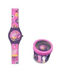 """EUROSWAN Dětské analogové hodinky """"Prasátko Peppa"""" - růžová"""