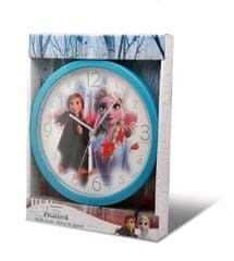 """EUROSWAN Analógové nástenné hodiny """"Frozen 2"""" 25 cm modrá"""