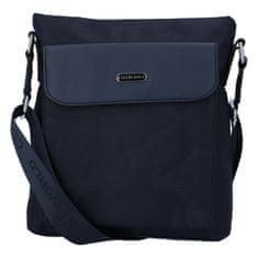 Coveri WORLD Pánska malá látková taška Coveri Elegant, modrá