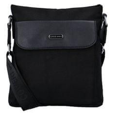 Coveri WORLD Pánska malá látková taška Coveri Elegant, čierna