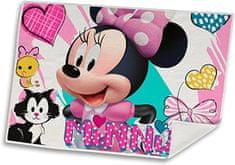"""EUROSWAN Ręcznik dziecięcy na dłonie i twarz """"Myszka Minnie"""" - 40x30 cm - różowy"""