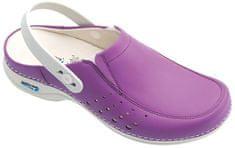 Nursing Care BERLIM pracovní kožená pratelná obuv s certifikací dámská s páskem fialová WG4AP20 Nursing Care Velikost: 35