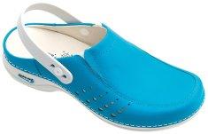 Nursing Care BERLIM pracovní kožená pratelná obuv s certifikací dámská s páskem modrá WG4AP19 Nursing Care Velikost: 35