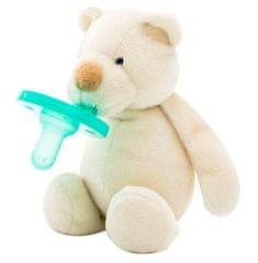 Minikoioi Sleep Buddy dječja duda s plišanom igračkom, bijeli medvjed