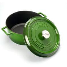 Lava Litinový hrnec kulatý 28 cm - zelený LVYTC28K2G