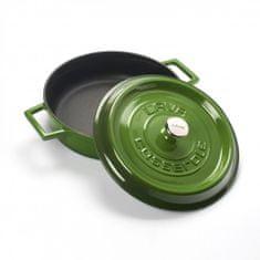 Lava Litinový hrnec nízký kulatý 32 cm - zelený LVYST32K2G