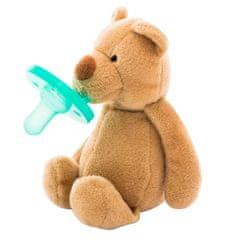 Minikoioi Sleep Buddy dječja duda s plišanom igračkom, smeđi medvjed