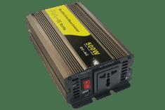 Eurocase Měnič napětí REM500, AC/DC 12V/230V, 500W, USB