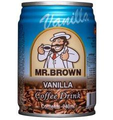 MR.BROWN vanilla ľadová káva, plech 0,240l (bal. 24ks)