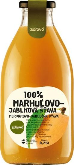 Zdravo  šťava 100% marhuľovo -jablková 0,750l (bal. 6ks)