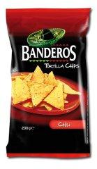 Banderos tortilla chips chilli 200g (bal. 10ks)
