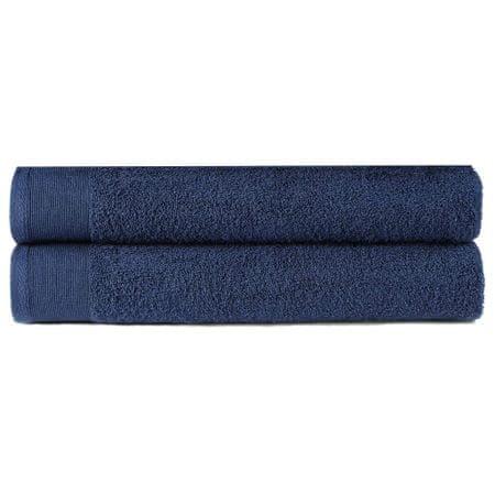 slomart Kopalne brisače 2 kosa bombaž 450 gsm 70x140 cm mornarsko modre