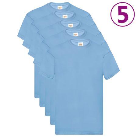 shumee Fruit of the Loom Oryginalne T-shirty, 5 szt., błękitne, 3XL, bawełna