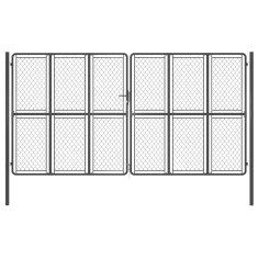 shumee antracitszürke acél kertkapu 400 x 175 cm