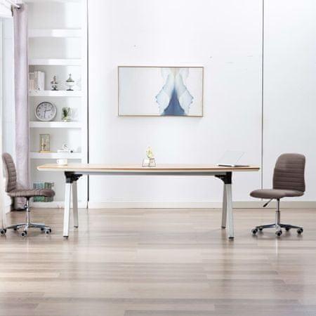 shumee Krzesła stołowe, 2 szt., taupe, tapicerowane tkaniną