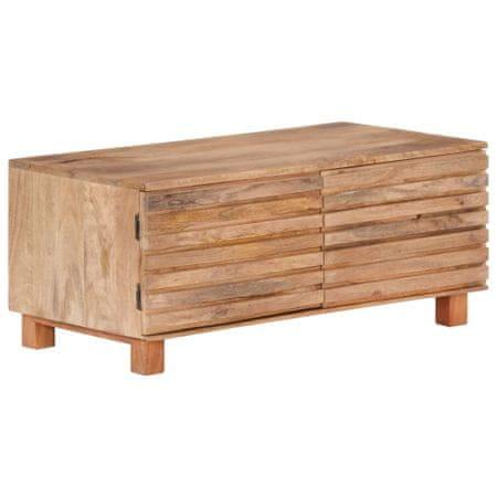 shumee Stolik kawowy, 90 x 50 x 40 cm, lite drewno mango