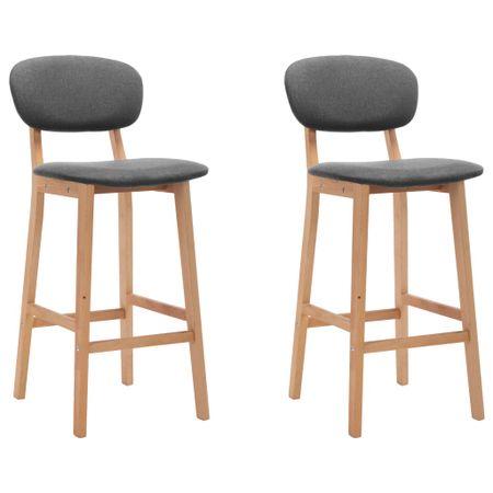 shumee Barski stolčki 2 kosa svetlo sivo blago