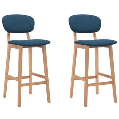 shumee Barski stolčki 2 kosa modro blago
