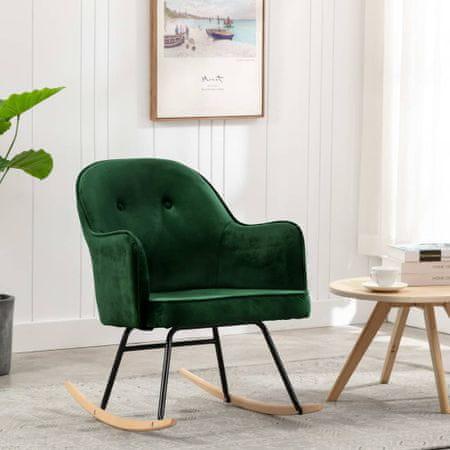 shumee Gugalni stol temno zelen žamet