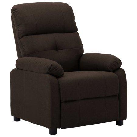 shumee sötétbarna szövetkárpitozású dönthető fotel