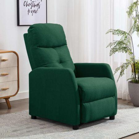 shumee Rozkładany fotel, ciemnozielony, tapicerowany tkaniną