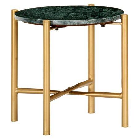 slomart Klubska mizica zelena 40x40x40 cm kamen z marmorno teksturo