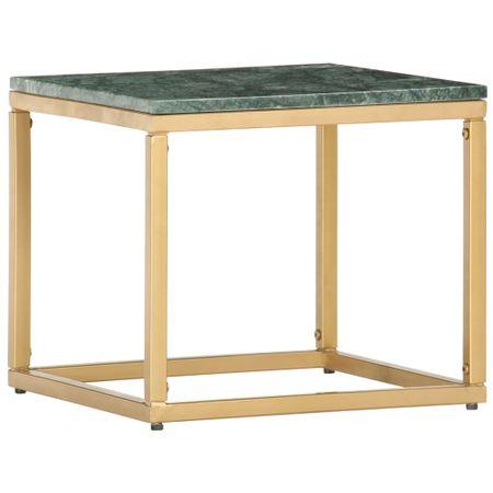 shumee Klubska mizica zelena 40x40x35 cm kamen z marmorno teksturo