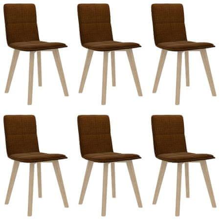 shumee Jedilni stoli 6 kosov rjave barve