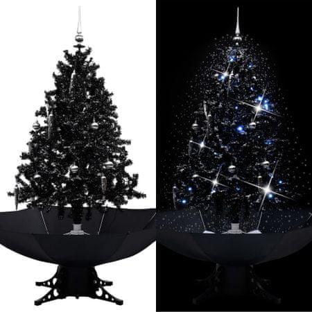 shumee fekete PVC havazó karácsonyfa ernyő alakú talppal 140 cm