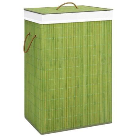 shumee zöld bambusz szennyestartó kosár 72 L