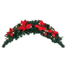 shumee Božični okras z LED lučkami zelen 90 cm PVC