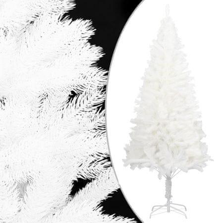 shumee fehér műkarácsonyfa élethű tűlevelekkel 240 cm