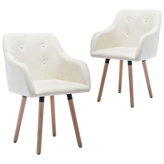 shumee Jídelní židle 2 ks krémové textil