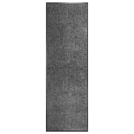 shumee antracitszürke kimosható lábtörlő 60 x 180 cm