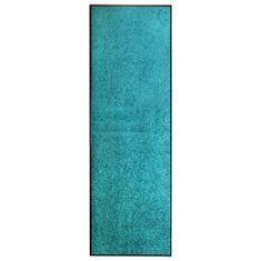 shumee ciánkék kimosható lábtörlő 60 x 180 cm