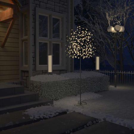 shumee cseresznyevirágos karácsonyfa 220 db meleg fehér LED-del 220 cm