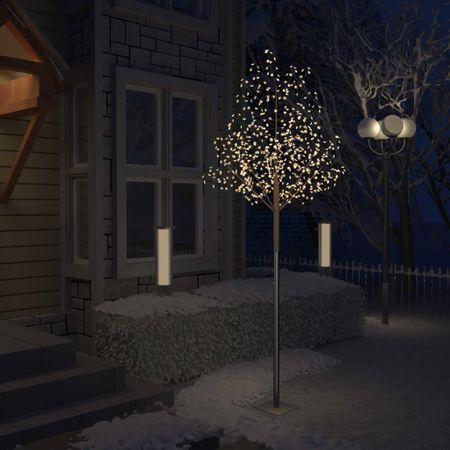 shumee Drzewko z lampkami, 600 LED, ciepły biały, kwiat wiśni, 300 cm