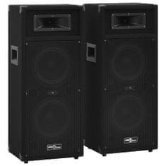shumee 2 db fekete professzionális passzív színpadi hangszóró 1000 W