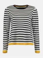 Haily´s černo-bílý lehký pruhovaný svetr Haily´s
