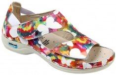 Nursing Care PRAGA pracovní sandálek s motýlky WG35F15 Nursing Care Velikost: 35